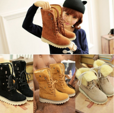 Women's Suede Thicken Warm Snow Ankle Boots