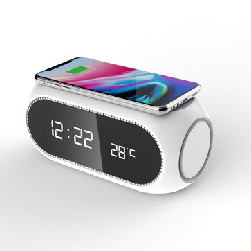 WhatClock 2 in 1 Alarm Clock with Wireless Charger