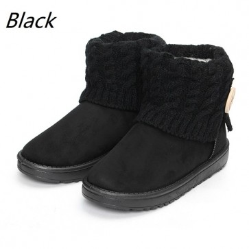 Women's Knit Thicken Snow Suede Boots