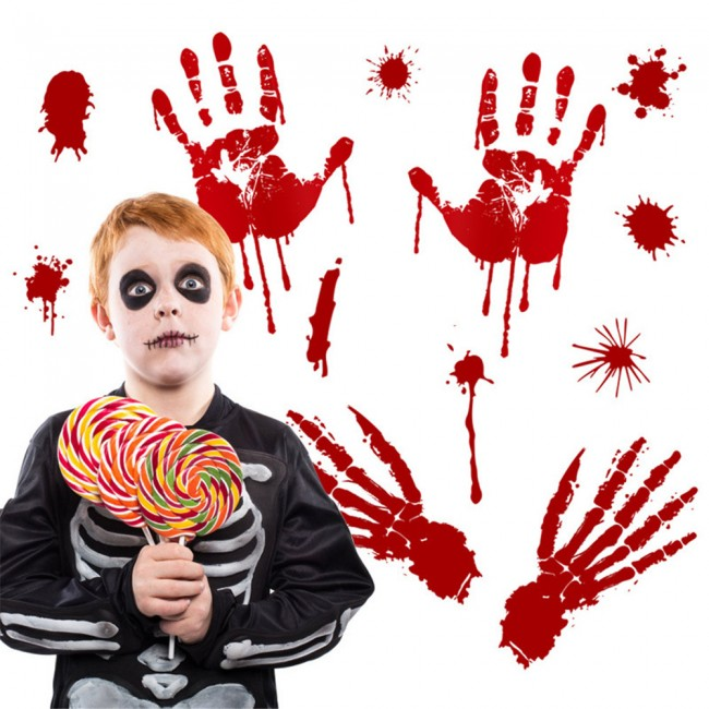 Halloween Decoration Prop Bloody Handprint