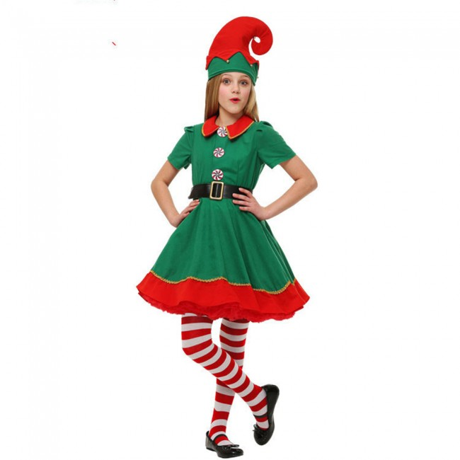 Christmas Elf Costume.Christmas Elf Costume Parent Child Wear