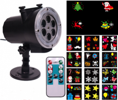 12 Patterns Snowflake Projector Lamp