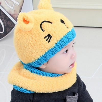 Kids Round Hat Scarf Set