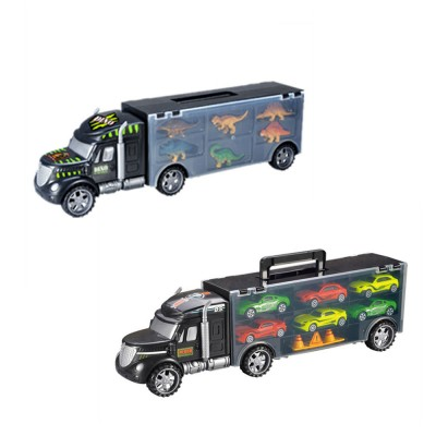 Toy Container Transporter Truck Set