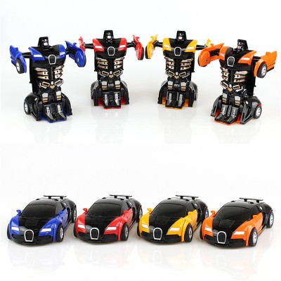 One Step Impact Deformation Toy Car