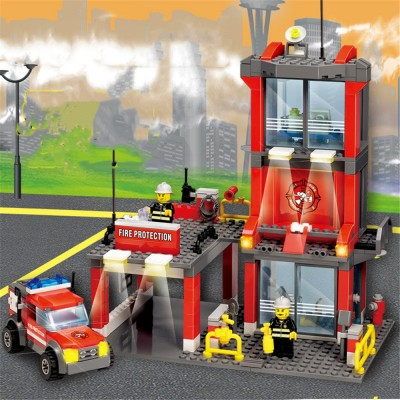Fire Series Assembling Puzzle Building Blocks Toys