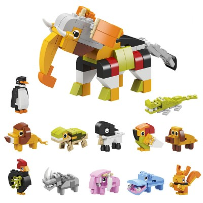 12-in-1 Animal Assembled Building Blocks Toy