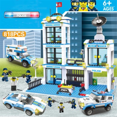 City Police Assembled Building Blocks Toys