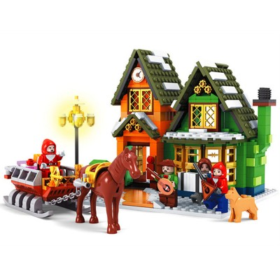 Christmas Post Office Building Block Toys