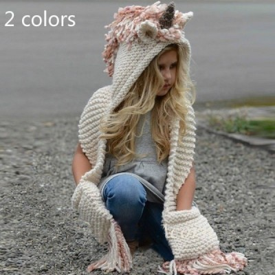Unicorn Winter Hat Hooded Scarf
