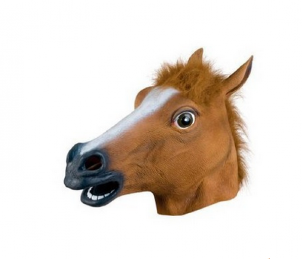 Head Mask Party Halloween Costume Theater Novelty Latex Horse Mask